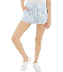 hippie rose juniors' tie-dyed pull-on sweat shorts