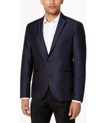 kenneth cole reaction men's slim-fit navy shine dinner jacket