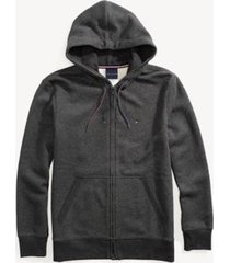 tommy hilfiger men's adaptive solid hoodie charcoal grey heather - l