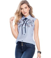 blusa para mujer bicolor mp 45145
