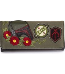 loungefly star wars boba fett twill skywalker vader yoda han stormtrooper wallet