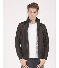 jaquetas & casacos khelf jaqueta masculina moletom e nylon preto