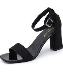7cm pu tacones altos sandalias mujeres hebilla tobillo peep toe sandalias