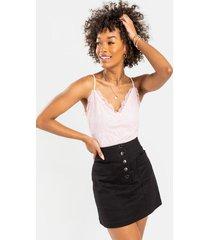 geane lace bodysuit - blush
