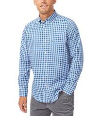 nautica men's gingham stretch-poplin shirt