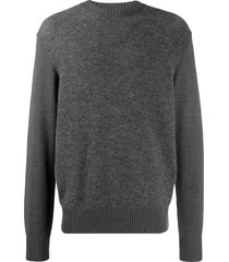 z zegna fine knit sweatshirt - grey
