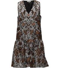 hamilton lace korte jurk bruin ganni