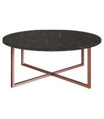 mesa de centro artesano fosco estrutura cobre