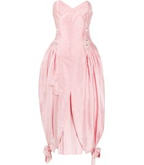 a.n.g.e.l.o. vintage cult 1980s strapless gown - pink