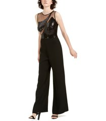 sho illusion sequin jumpsuit