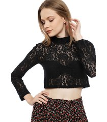 blusa eclipse ml negro - calce ajustado
