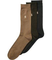 polo ralph lauren men's 3 pack supersoft dress socks extended size 13-16