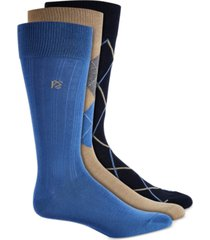 perry ellis men's 3-pk. patterned dress socks