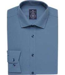 construct steel blue slim fit dress shirt