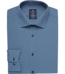 construct steel blue slim fit dress shirt