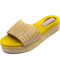 sandalia faja cuerda amarillo mailea