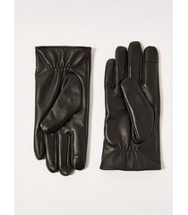 mens black leather gloves and box