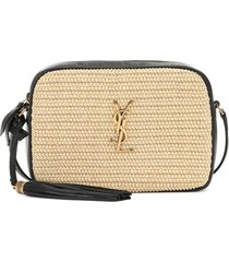 lou camera raffia crossbody bag
