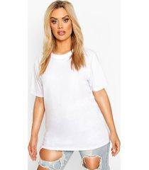 plus basic crew neck t- shirt, white