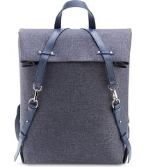 royce new york men's mixed-media backpack - grey