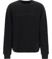 a-cold-wall loopback cotton sweatshirt with embroidered logo