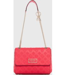 cartera logo love fucsia guess