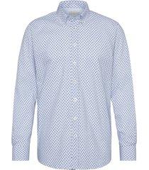 bugatti overhemd blauw motief