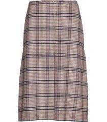 d1. washable stretch wool skirt knälång kjol multi/mönstrad gant