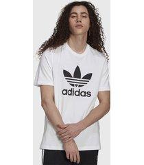 polera adidas originals trefoil t-shirt blanco - calce regular