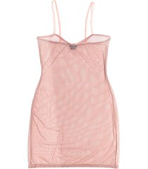 women's lasette back to basics sheer slip, size x-small - pink
