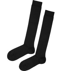 calzedonia - tall stretch cotton socks, 42-43, black, men
