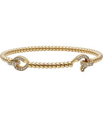 diamond hook twist bracelet