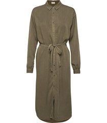 evelyn dress knälång klänning grön modström