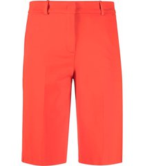 pinko jetted pocket cotton shorts - red