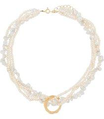 hermina athens 'full moon' tangled necklace - white