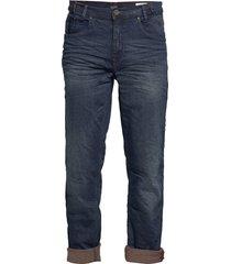 jeans - noos rock fit - zip fly jeans blå blend