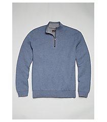 reserve collection cotton & cashmere blend quarter zip mock neck men's sweater - big & tall