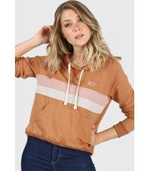 buzo naranja reef opus hoodie