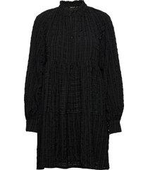 jasmine, 925 gingham poly korte jurk zwart stine goya