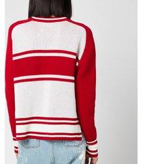 golden goose women's dianne stripes sweatshirt - red/white - m