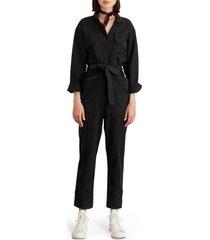 women's alex mill expedition twill jumpsuit, size xx-large - black