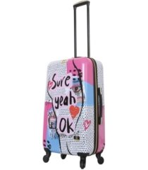 "halina nikki chalinau sure 24"" hardside spinner luggage"