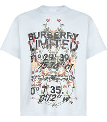 burberry ladslow logo and floral print cotton t-shirt