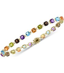 effy multi-gemstone link bracelet (13-3/4 ct. t.w.) in 14k gold
