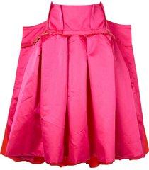 comme des garçons oversized pleated skirt - pink