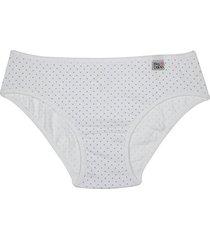calcinha branca infantil delrio em algodão e cotton 51480