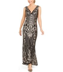 r & m richards sequined gown