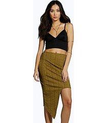 noa asymetric cut side bandage skirt
