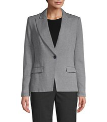 elbow patch single-button blazer