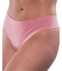 calcinha click chique biquãni fio dental corte lazer rosa - rosa - feminino - dafiti